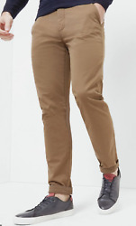 New Ted Baker Tan Procor Slim Fit Chino Trousers Pants Size 36r 36 / 32