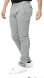 New Ted Baker Light Gray Procor Slim Fit Chino Trousers Pants Size 34r 34 / 32