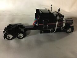 Dcp 164 Custom Kenworth W900 Black With Red Stripes