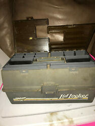 Vintage Fenwick Tackle Box Lid Locker Vii With 25+ Lore And Gear