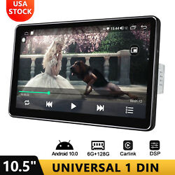 10.5 Inch Detachable Touch Screen Single Din Android 10 Car Stereo 6+128gb 8core