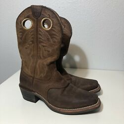 Ariat 10002227 Menand039s Size 7.5 D Heritage Roughstock Square Toe Western Boots