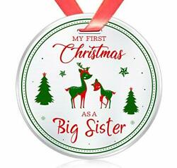 My First Christmas As A Big Sister Keepsake Ornament- Tree Hanging Decoration
