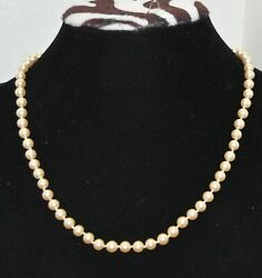 Vintage Pearl Strand Necklace G.silver 18 Inches