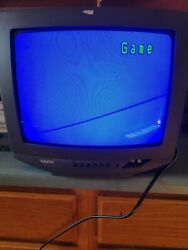 """Sanyo Ds13630 13"""" Crt Color Retro Gaming Tv Monitor Old School Great Shape"""