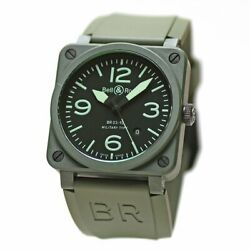Bell And Ross Br03-92 Military Ceramic Br03-92-mc-r Automatic Black Dial Mens