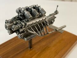 1950 Ferrari 166 Mm Engine 1/43 Pewter Model By Sinclairs Auto Miniatures Cma