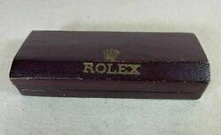 Rare Vintage Red Rolex Coffin Box 1940's Extremely Rare.