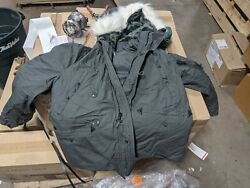 Us. Military Issue Extreme Cold Weather N-3b Parka Jacket Coat Size Large New