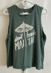 Sol Angeles Donand039t Touch Mai Tai Muscle Tee Green L
