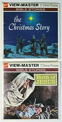 Vintage Christmas Gaf View-master Lot Of 2 The Christmas Story And Birth Of Jesus