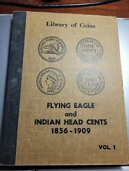 Library Of Coins Album Flying Eagle And Indian Head Cents 1856-1909. 25 Coins