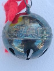 Vintage 1974 Wallace Silverplate Bell , Christmas Ornament, 1b