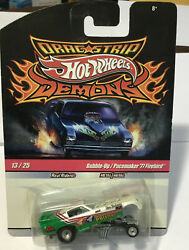 Hot Wheels Bubble-up/pacemaker And03977 Firebird Green And White Drag Strip Demons 13