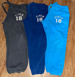 Lot Of 3 Abercrombie And Fitch Mens Size Xl Drawstring Sweat Pants Joggers