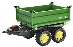 Rolly Toys Mega Trailer Twin Axle 3 Way Tipping Large Robust For Rolly Tractors