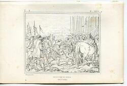Antique Netherlands Breda Soldiers Weapons Army Horse Peace Treaty Etching Print