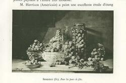 Antique Fruit Nuts Wicker Basket Glass Jar For The Holidays Miniature Print