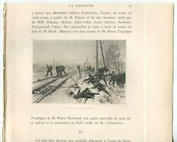 Antique Soldiers War Railroad Train Tracks Winter Snow Ice Free Shooters Print