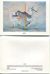 Vintage Carousel Painted Pony Horse Muller Military War Horse Embossed Art Card