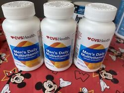 3x Mens Daily Multi Vitamin 120 Tablets Ea Exp 04/23 Scratch Bottle Read⬇️