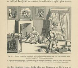Antique Mother Father Son Fireplace Shoemaker Tools Fireplace Old Art Print