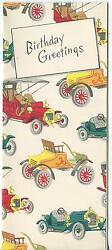 Vintage Antique Automobiles Cars Ford Model T Birthday Litho Art Greeting Card