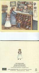Vintage Victorian Old Fashioned Girl Toy Penny Candy Store Country Shop 1 Card