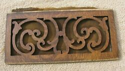 Antique Montgomery Ward Cecilian Phonograph Wood Wooden Front Grillstock Part C