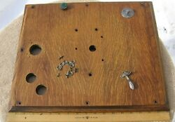 Rare Montgomery Ward Cecilian Phonograph Wood Lid Bed Plate With Partsstock C
