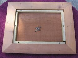 Antique Imperial Symphonion Music Box Top Lid Part With Mounting Screwsstock E