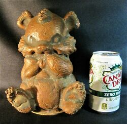 Toy Mold Rubber Panda Bear Antique Rempel Arrow Large Copper Found Akron Area