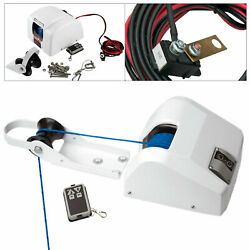 Saltwater Boat Electric Anchor Winch With Remote Control And Braided Anchor Rope