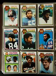 1979 Topps Football Complete Set In Binder Earl Campbell Rookie, Walter Payton