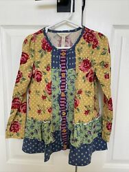 Matilda Jane - Darling Long Sleeve Fall Top Size 6, Pre-owned