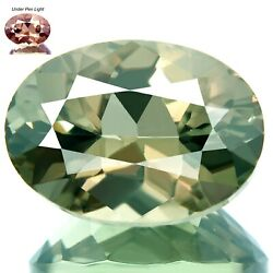 Color Change Csarite 7.59ct Ultra Rare Natural Best Green To Red Flash Huge Oval