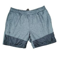 Under Armour Mens Loose Fit Activewear Gray Shorts Size 2xl