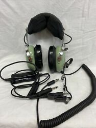David Clark 12510g-21 H10-76 Aviation Headset W/micm-87a/c And Adapter Works