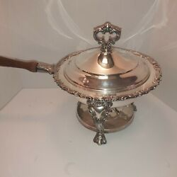 Jb Rogers Silver Company Sterling Silver Plated Chafing Dish Vtg Original Tags