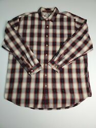 The Territory Ahead Menand039s Flannel Shirt Size 2xlt Multicolor Plaid Button-down