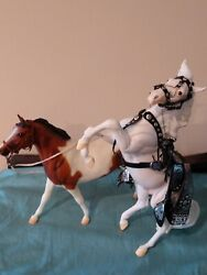 Breyer Traditional Horses Lone Ranger#x27;s Silver with Parade Tack and Scout
