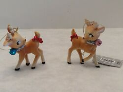 Retro/vintage Reindeer Ornaments Pink And Turquoise Bells From Hobby Lobby 3