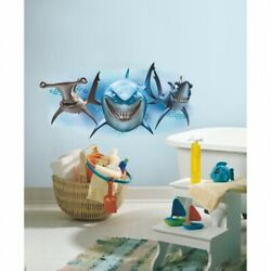 Room Mates Rmk2558gm Finding Nemo Sharks Peel And Stick Giant Wall Decals