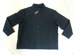 Polo Menand039s Big And Tall Black Performance Jacket Size 4xlt