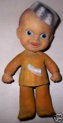 1940and039s Baby Davy Crockett Rempel Rubber Toy Doll