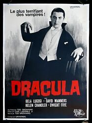 Dracula ✯ Cinemasterpieces Bela Lugosi French Movie Poster 1960and039s Horror Vampire
