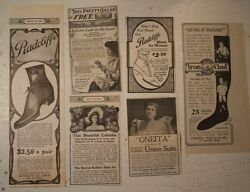 Radcliffe Victorian Women Shoe Stockings Oneita Union Suits Lot Old 1902 Ads