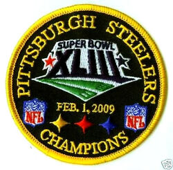 Super Bowl Xliii Steelers Superbowl 43 Champions Iron-on Patch