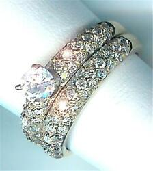 New 1.18 Ct Total 14k Yellow Gold Semi-mount Bridal Set Priced Below Cost