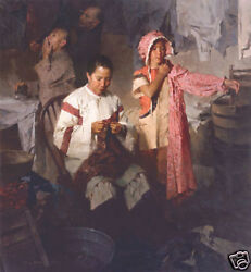 The Calico Dress Family Laundry Mian Situ Canvas